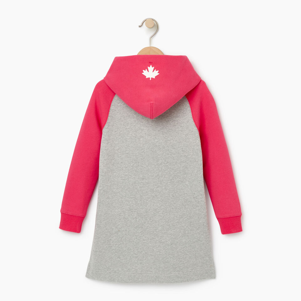 Roots-Kids Our Favourite New Arrivals-Girls 2.0 Hooded Dress-Grey Mix-C