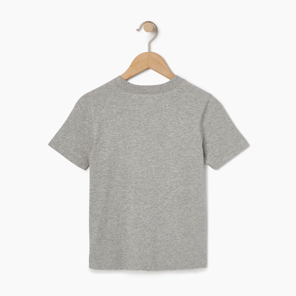 Roots-Kids Tops-Toddler Arch Roots T-shirt-Grey Mix-B