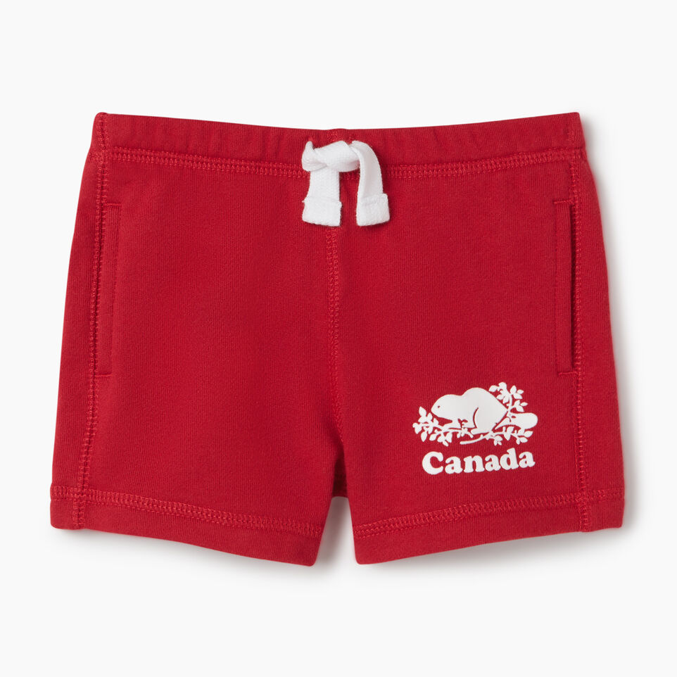 Roots-Kids Baby Girl-Baby Canada Short-Sage Red-A