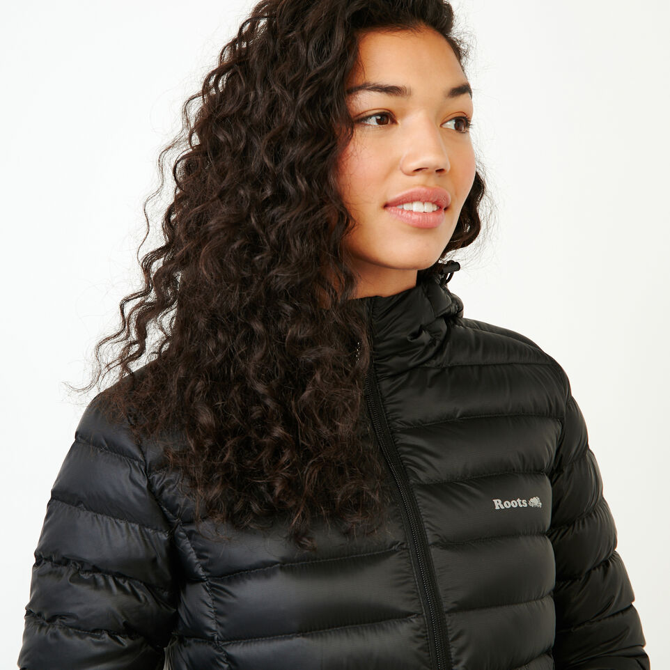 Roots-Women Bestsellers-Roots Packable Down Jacket-Black-E