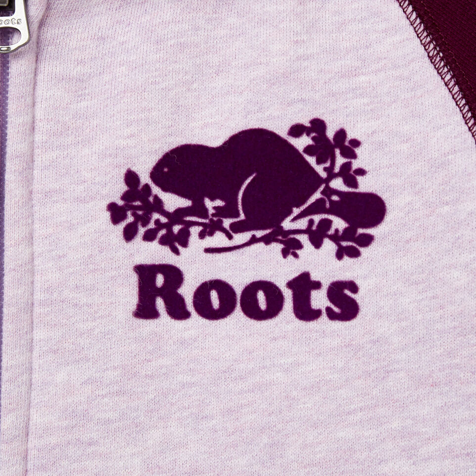 Roots-Kids New Arrivals-Girls Original Full Zip Hoody-Lupine Mix-C