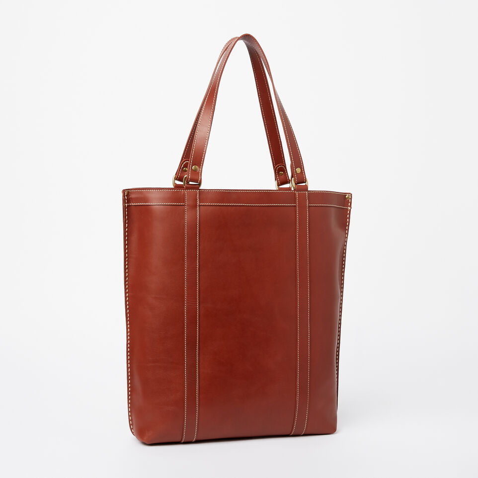 Roots-Clearance Leather-Market Tote Heritage-Oak-C