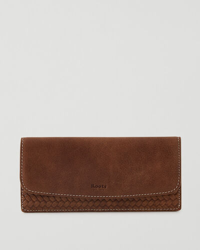 Roots-Leather Wallets-Liberty Wallet Woven-Natural-A