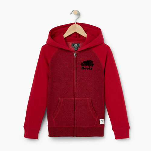 Roots-Winter Sale Kids-Boys Original Full Zip Hoody-Cabin Red Pepper-A