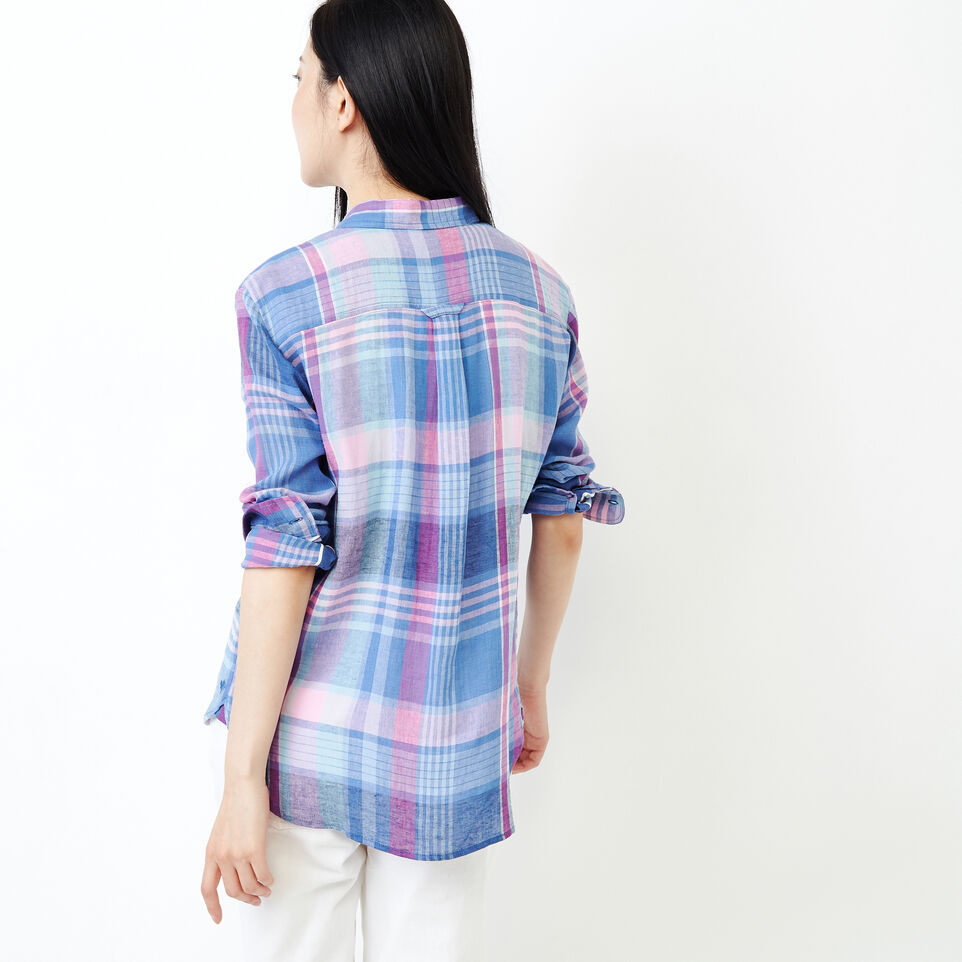 Roots-undefined-Relaxed Plaid Shirt-undefined-D