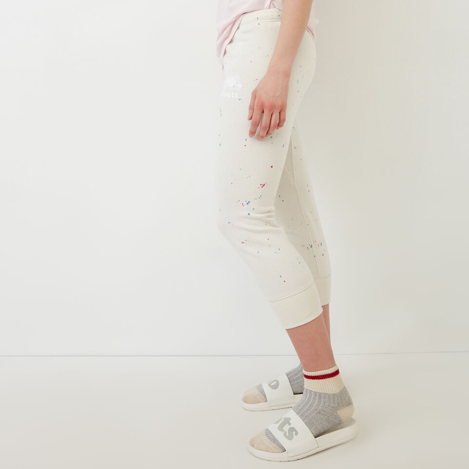 Roots-undefined-Splatter Cropped Sweatpant-undefined-C