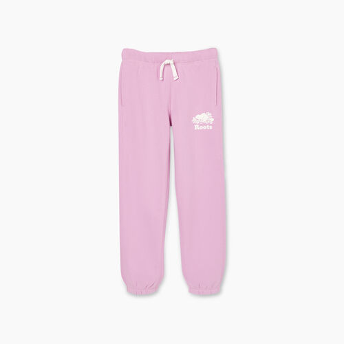 Roots-Kids New Arrivals-Girls Original Roots Sweatpant-Orchid-A