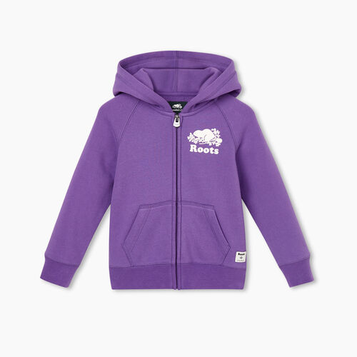Roots-Kids Tops-Toddler Original Full Zip Hoody-Deep Lavender-A