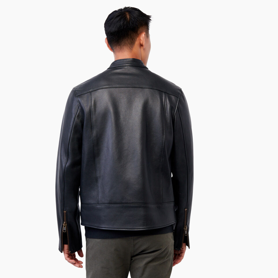 Roots-Leather  Handcrafted By Us Leather Jackets-Keith Jacket Lake-Black-C