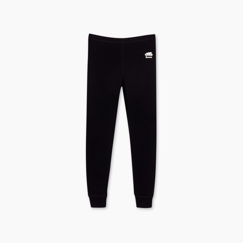 Roots-Kids Bottoms-Girls Cozy Fleece Legging-Black-A