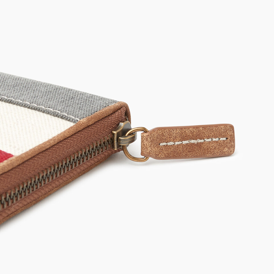 Roots-Women Our Favourite New Arrivals-Cabin Wallet-Grey Oat Mix-E