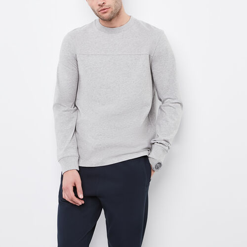 Roots-Sale Tops-10 Oz Jersey Longsleeve Crew-Grey Mix-A