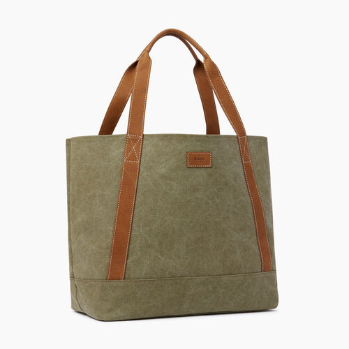 Roots-Women Our Favourite New Arrivals-Muskoka Tote Canvas-Khaki-A