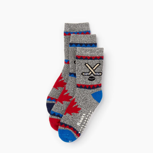 Roots-Kids Accessories-Toddler Canadiana Sock 3 Pack-Active Blue-A