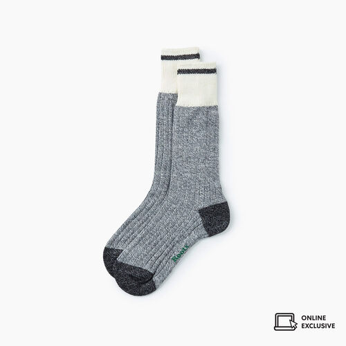 Roots-Gifts Lounge-Womens Roots Pop Cabin Sock 3 Pack-Grey Mix-A