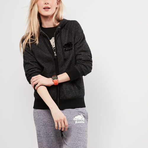 Roots-Women Sweatshirts & Hoodies-Roots Black Pepper Original Full Zip Hoody-Black Pepper-A