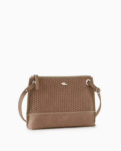Roots-Leather New Arrivals-Edie Bag Woven-Sand-A
