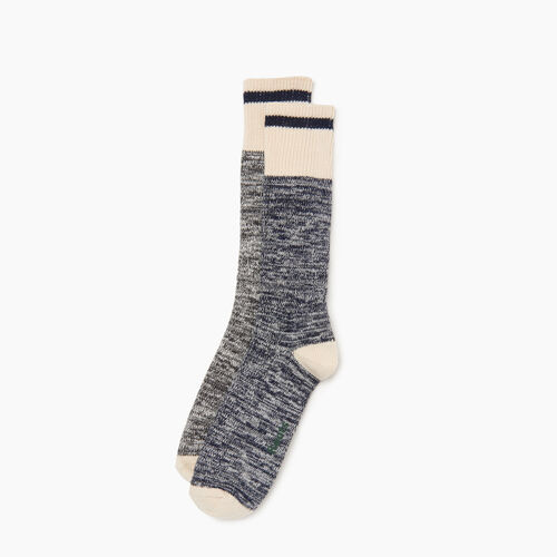 Roots-Men Categories-Cotton Cabin Sock 2 pack-Navy-A