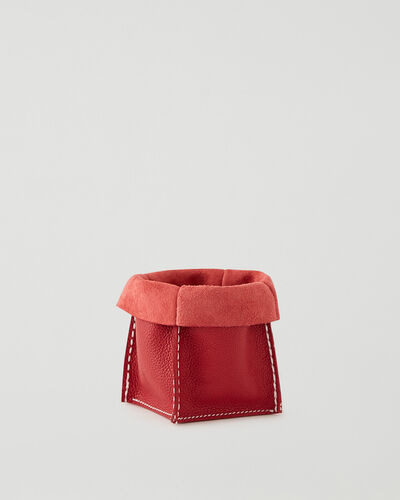 Roots-Leather New Arrivals-Small Rollover Basket Cervino-Lipstick Red-A