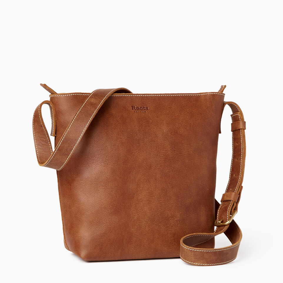 Roots-Leather Our Favourite New Arrivals-Rideau Crossbody-Natural-C
