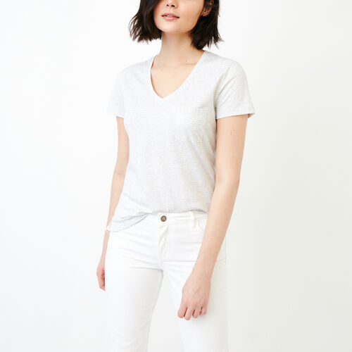 Roots-Women Our Favourite New Arrivals-Rennie Pocket Top-White Mix-A
