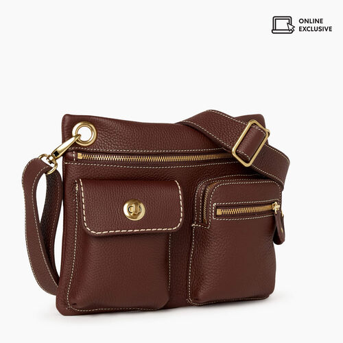 Roots-Leather New Arrivals-Village Bag Parisian-Chocolate-A