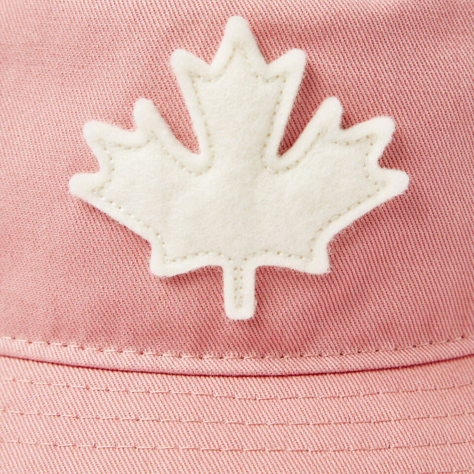 Roots-Kids Our Favourite New Arrivals-Toddler Canada Leaf Bucket Hat-Pink-D