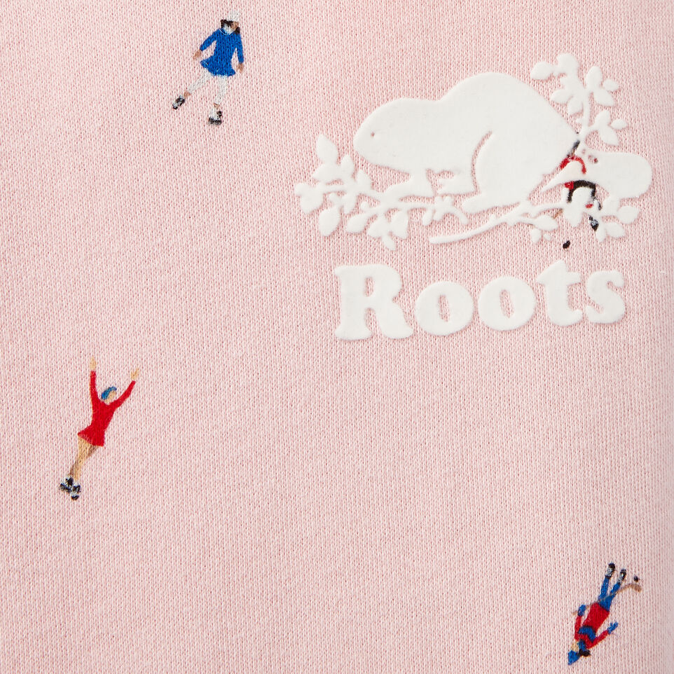 Roots-Kids Our Favourite New Arrivals-Girls Skater AOP Sweatpant-Light Pink-D