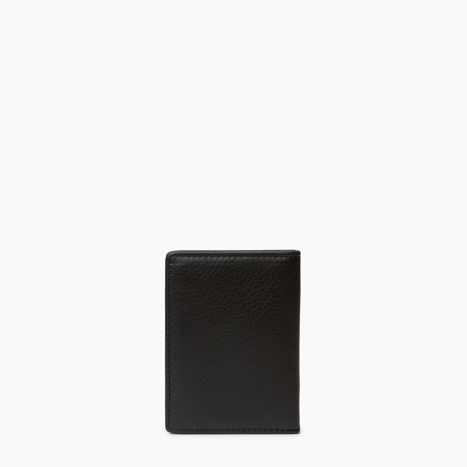 Roots-Leather  Handcrafted By Us Categories-Card Case With Id-Black-C