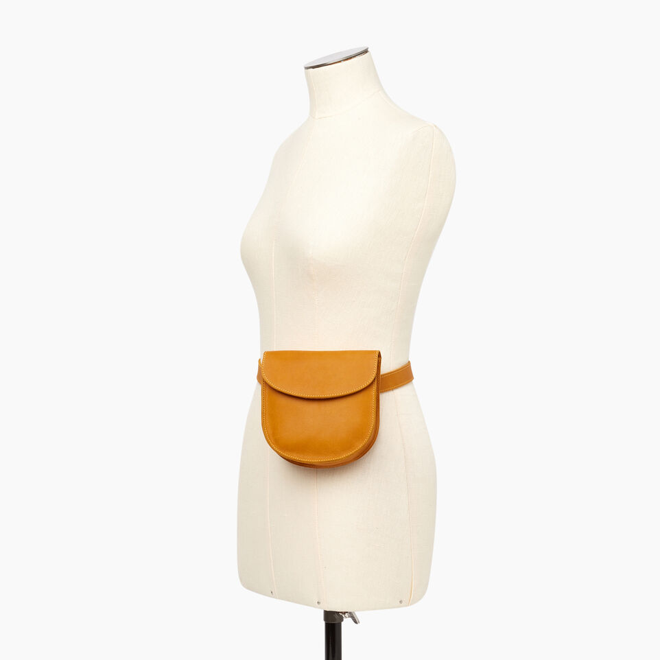 Roots-Leather  Handcrafted By Us Our Favourite New Arrivals-Lambert Belt Pack-Squash Yellow-B