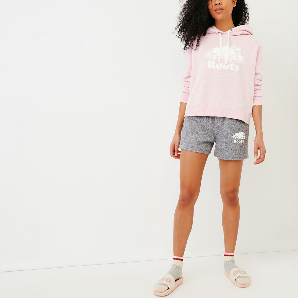 Roots-Women Our Favourite New Arrivals-Melange Terry Hoody-Pink Mist Mixpink-B