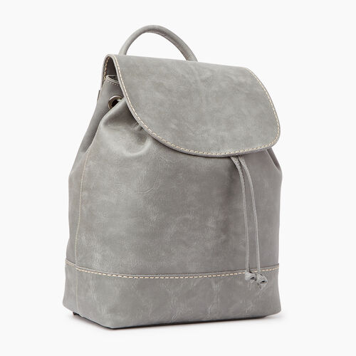 Roots-Leather  Handcrafted By Us Backpacks-Sandbanks Pack-Quartz-A