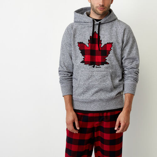 Roots-Winter Sale Men-Canuck Pepper Kanga Hoody-Salt & Pepper-A