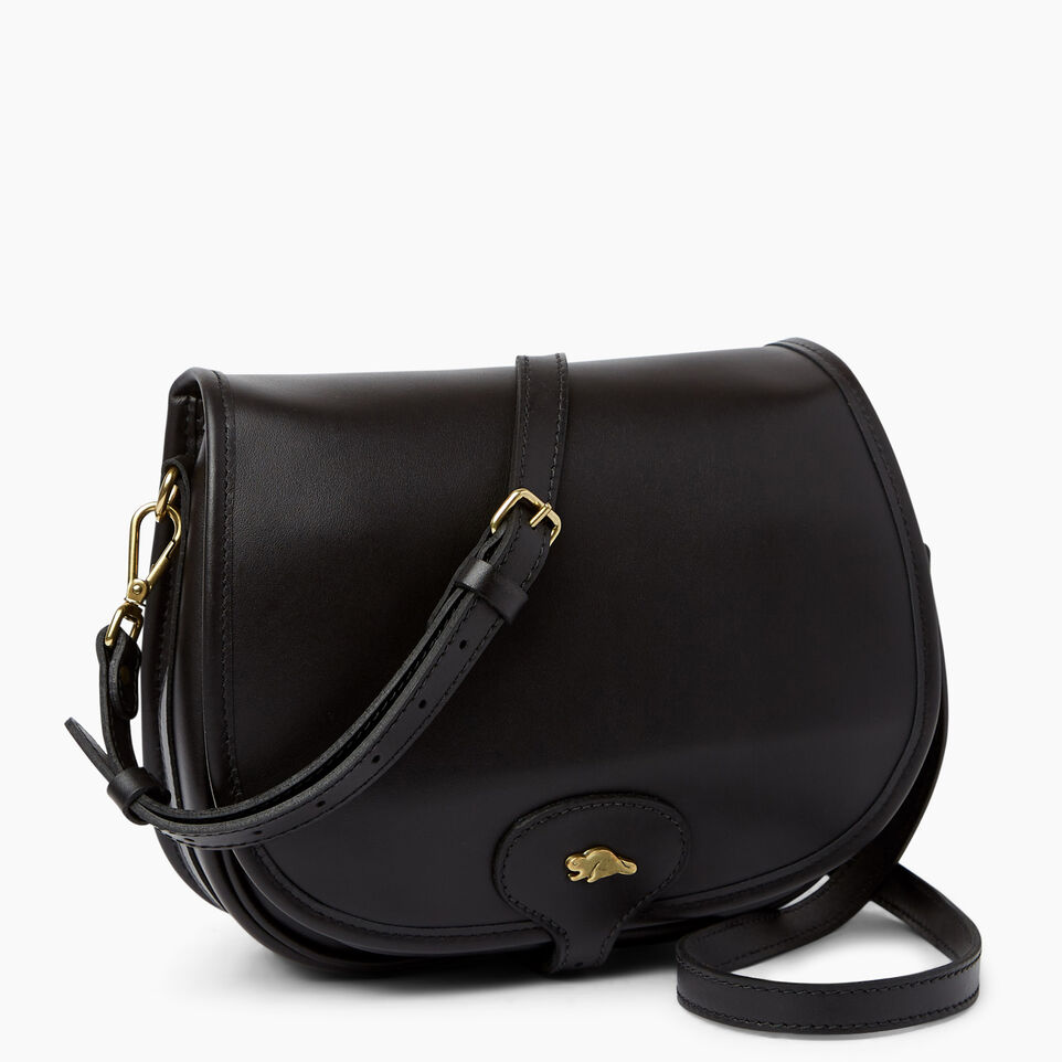 Roots-Leather  Handcrafted By Us Handbags-Medium English Saddle Heritage-Black-A