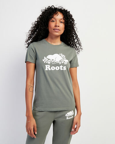 Roots-Women Bestsellers-Womens Cooper Beaver T-shirt-Agave Green-A