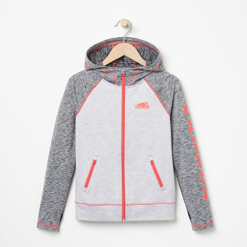 Roots-Sale Girls-Girls Roots Active Jacket-White Grey Mix-A