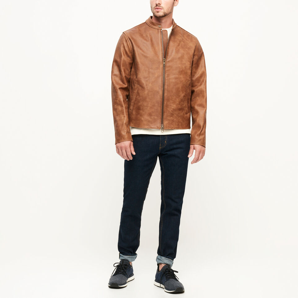 Roots-Leather Leather Jackets-Keith Jacket Tribe-Natural-B