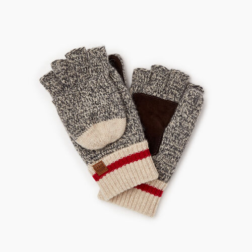 Roots-Gifts Cabin Comfort-Womens Roots Cabin Flip Mitt-Grey Oat Mix-A
