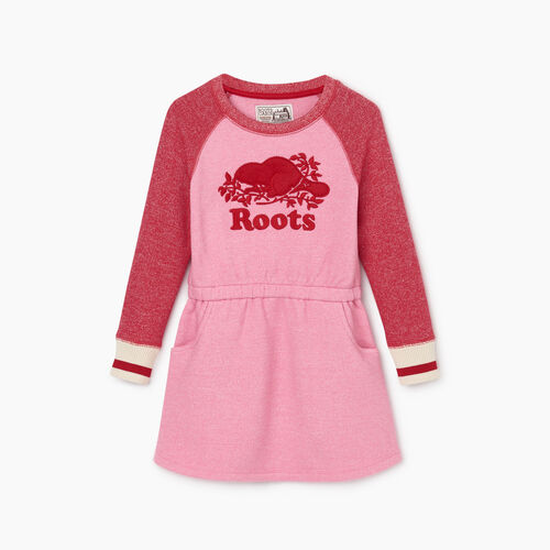 Roots-New For October Kids-Toddler Roots Cabin Cozy Dress-Cashmere Rose Pepper-A