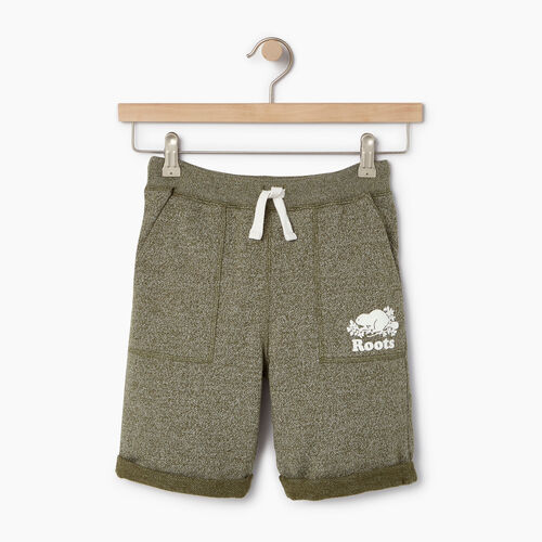 Roots-Clearance Kids-Boys Park Short-Winter Moss Pepper-A