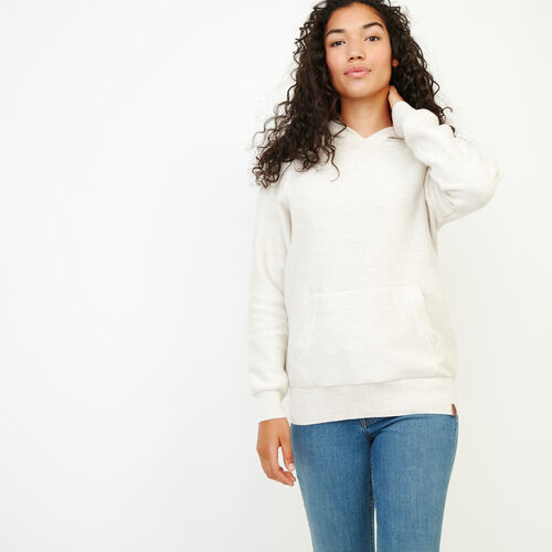 Roots-Women Sweaters & Cardigans-Maple Sweater Hoody-Butter Mix-A