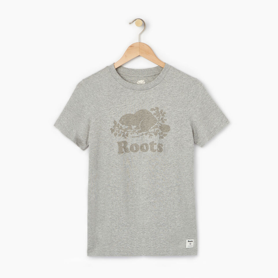 Roots-Women Our Favourite New Arrivals-Womens Cooper Beaver T-shirt-Grey Mix-A