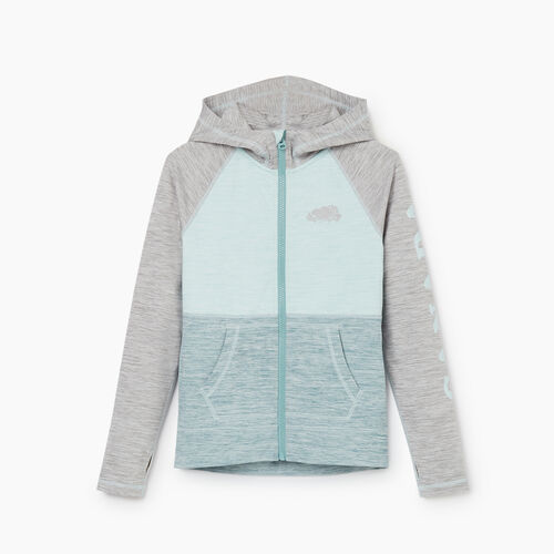 Roots-Kids Girls-Girls Lola Active Full Zip Hoody-Blue Glow-A