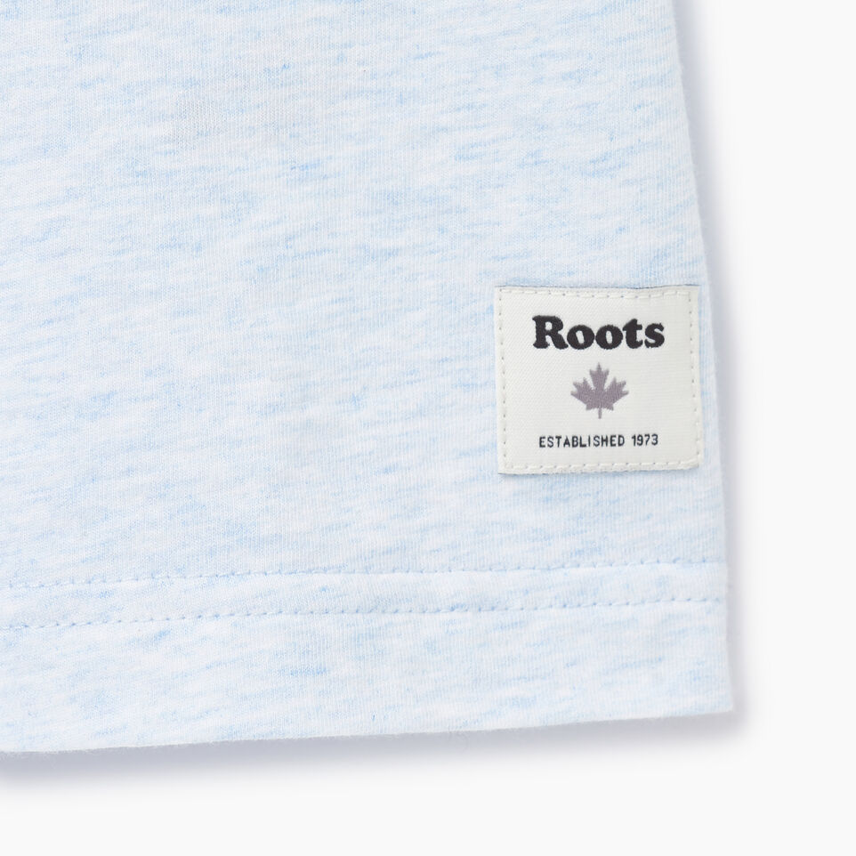 Roots-New For July Men-Mens Roots Cabin Ringer T-shirt-Baby Blue Mix-C