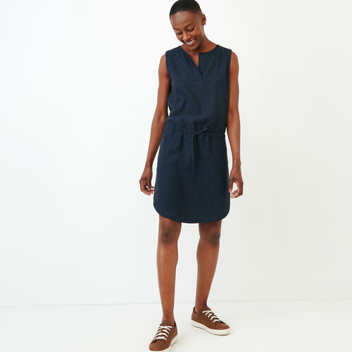 Roots-Women Dresses-Hazelton Dress-Indigo-A