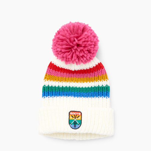 Roots-Winter Sale Boys-Kids Kananaskis Pom Pom Toque-Pristine White-A