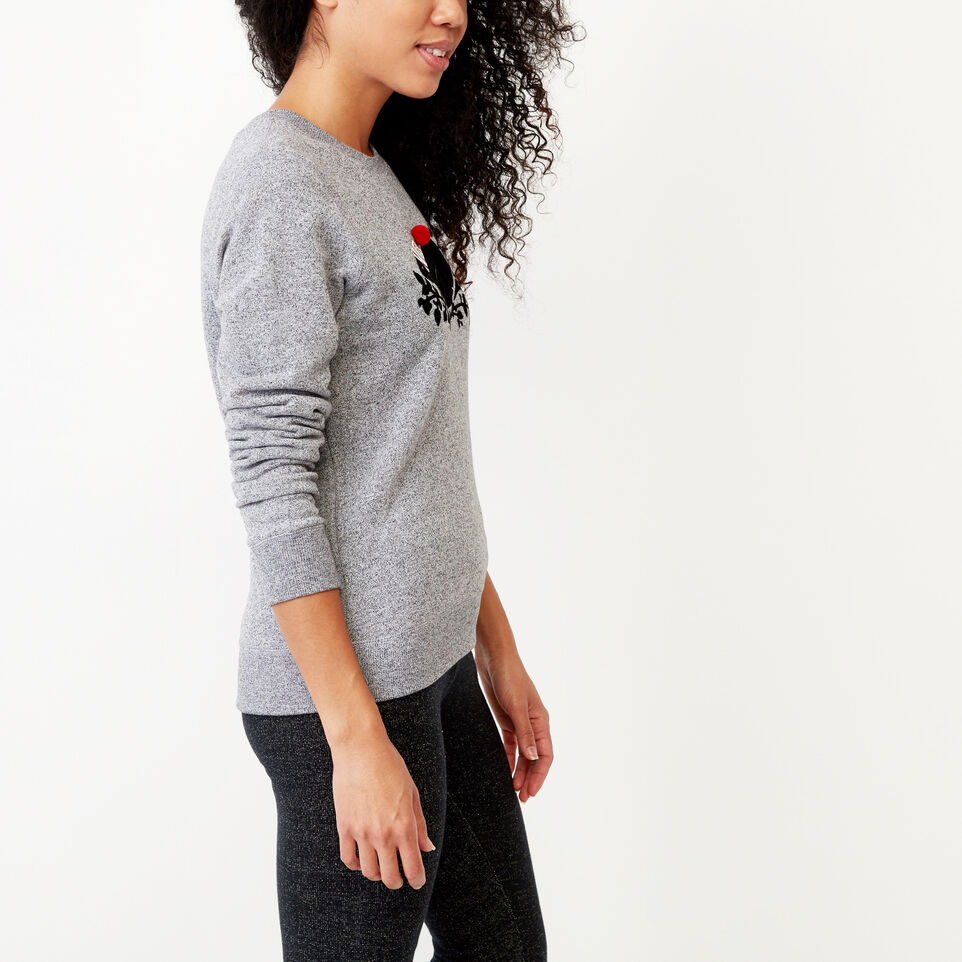 Roots-Winter Sale Women-Buddy Cozy Crew Sweatshirt-Salt & Pepper-C