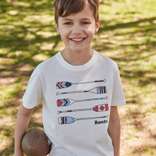 Roots-Kids Boys-Boys Roots Outdoors T-shirt-Ivory-A