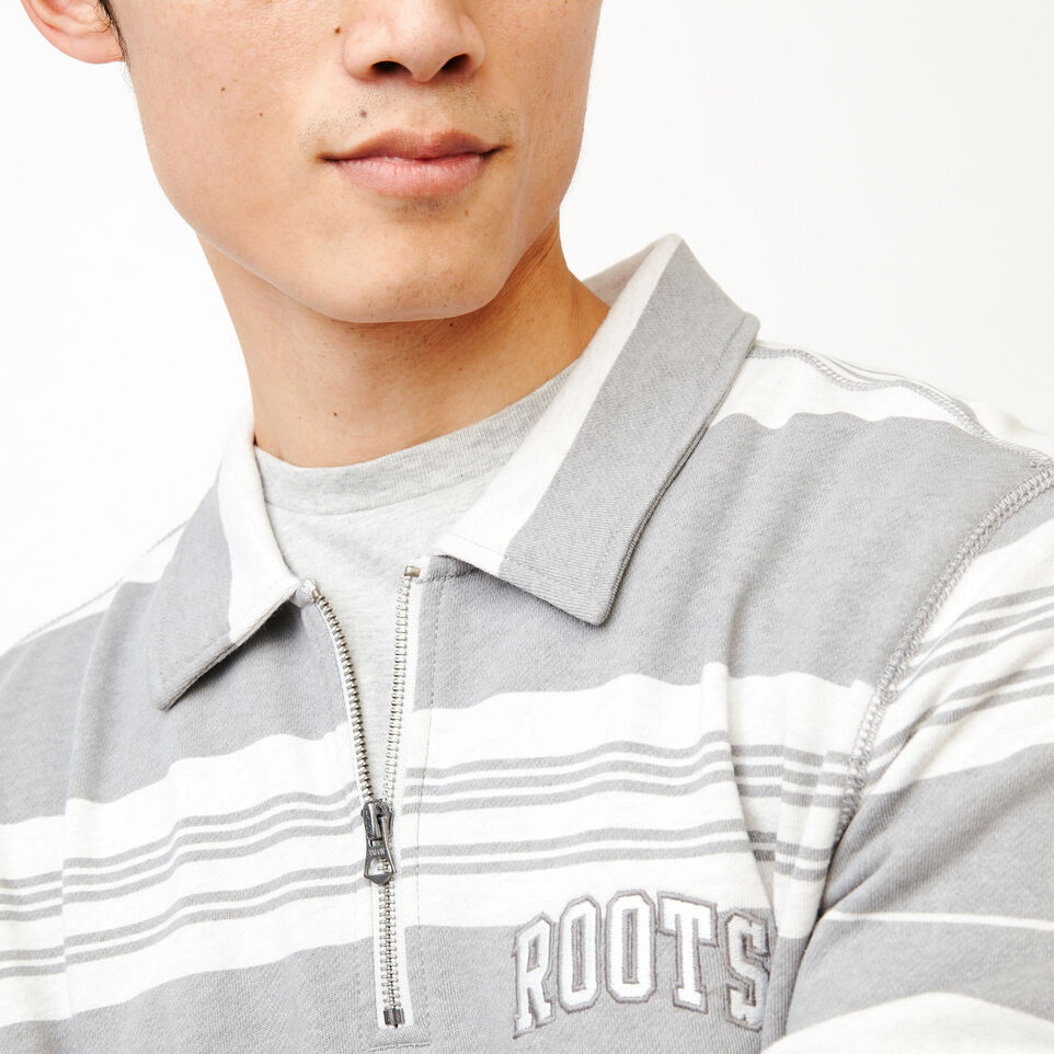 Roots-undefined-Rugby Stripe Zip Polo-undefined-D