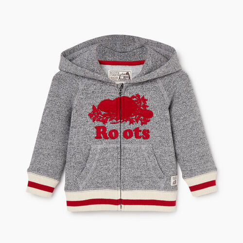 Roots-Kids Our Favourite New Arrivals-Baby Roots Cabin Cozy Zip Hoody-Salt & Pepper-A